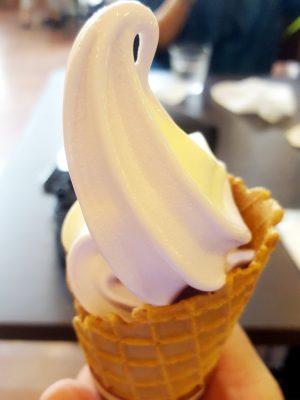 香りの館で売っていたソフトクリーム